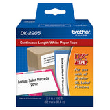 Brother White Continuous Length Paper Tape - DK2205