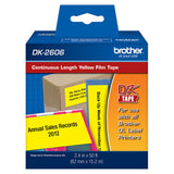 Brother Yellow Continuous Length Film Tape - DK2606