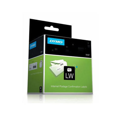 "Dymo 30387 3-Part Internet Postage With Delivery Confirmation Label 2 5/16"" x 10 1/2"""