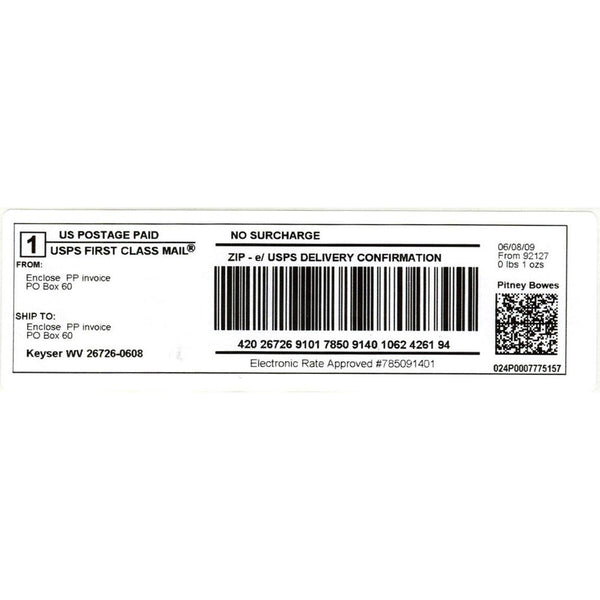 Dymo 99019 White 1-Part Internet Postage Label