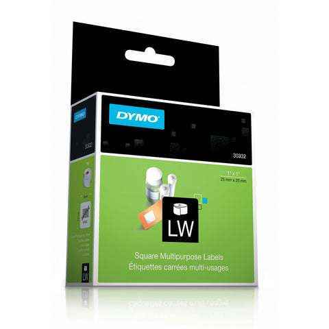 Dymo 30332 White Multipurpose Square Labels 1