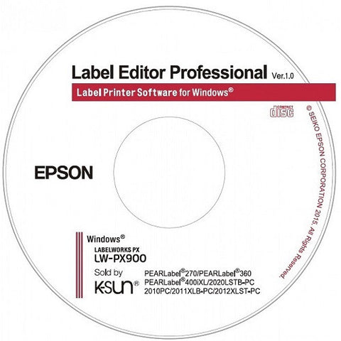 Epson Label Editor Professional Software