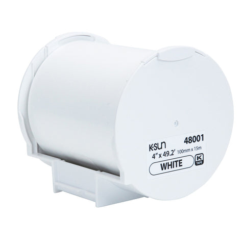 "K-Sun 4"" x 49.2' White Supply Roll - 48001"