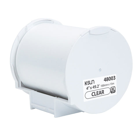 "K-Sun 4"" x 49.2' Clear Supply Roll - 48003"