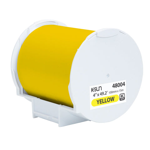 "K-Sun 4"" x 49.2' Yellow Supply Roll - 48004"