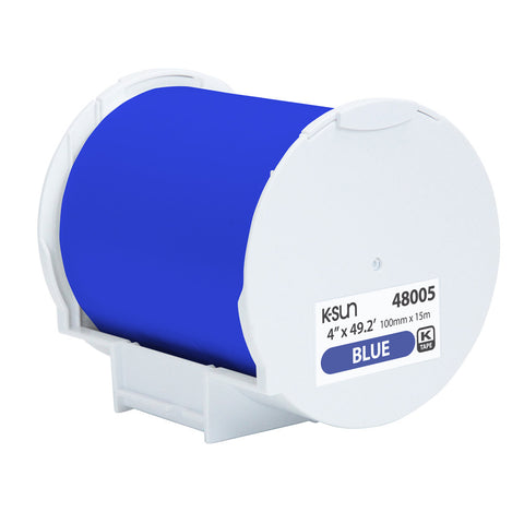 "K-Sun 4"" x 49.2' Blue Supply Roll - 48005"