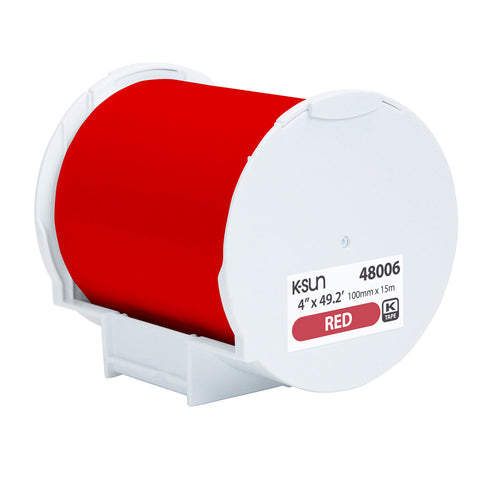 "K-Sun 4"" x 49.2' Red Supply Roll - 48006"
