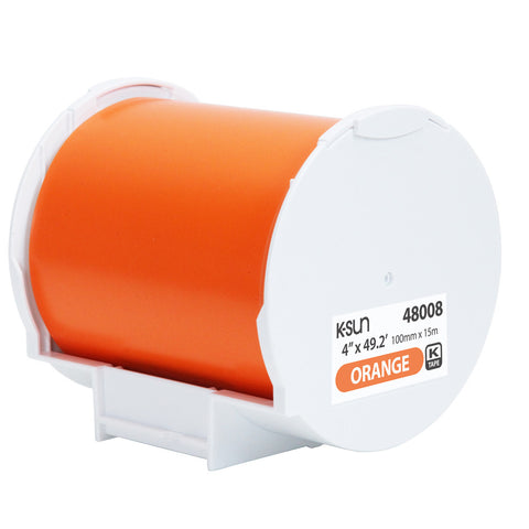 "K-Sun 4"" x 49.2' Orange Supply Roll - 48008"