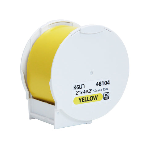 "K-Sun 2"" x 49.2' Yellow Supply Roll - 48104"