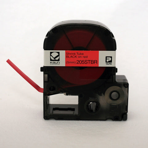 "K-Sun 3/16"" Black on Red Shrink Tube - 205STBR"