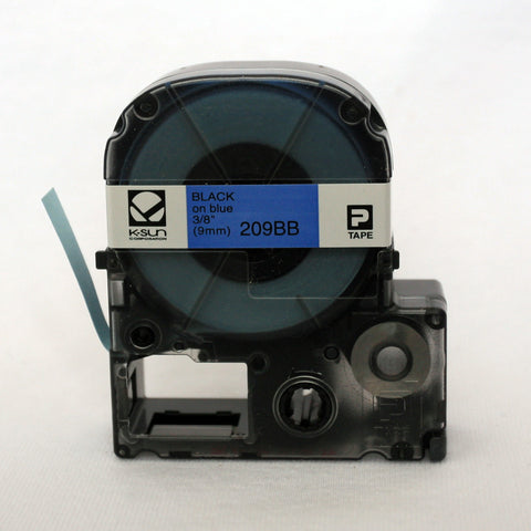 "K-Sun 3/8"" Black on Blue Tape - 209BB"