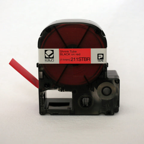 "K-Sun 1/2"" Black on Red Shrink Tube - 211STBR"