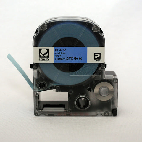 "K-Sun 1/2"" Black on Blue Tape - 212BB"