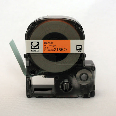 "K-Sun 3/4"" Black on Orange Tape - 218BO"