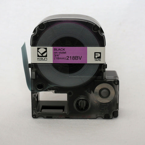 "K-Sun 3/4"" Black on Violet Tape - 218BV"