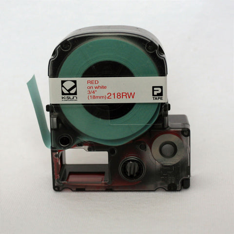"K-Sun 3/4"" Red on White Tape - 218RW"