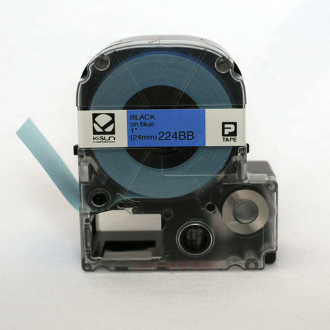 "K-Sun 1"" Black on Blue Tape - 224BB"