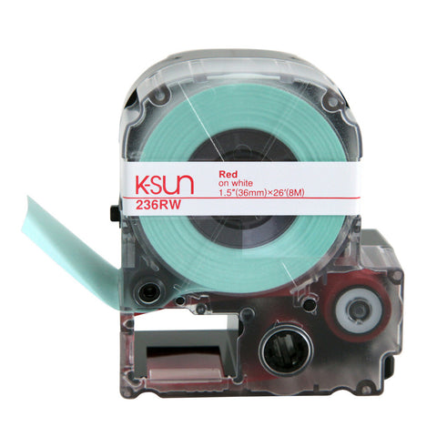 "K-Sun 1 1/2"" Red on White Tape - 236RW"