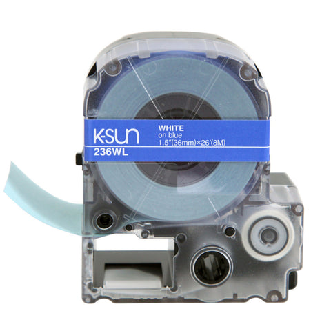 "K-Sun 1 1/2"" White on Blue Tape - 236WL"