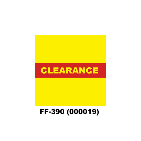 "Monarch 1136 ""CLEARANCE"" Labels (8 rolls) - 000019"
