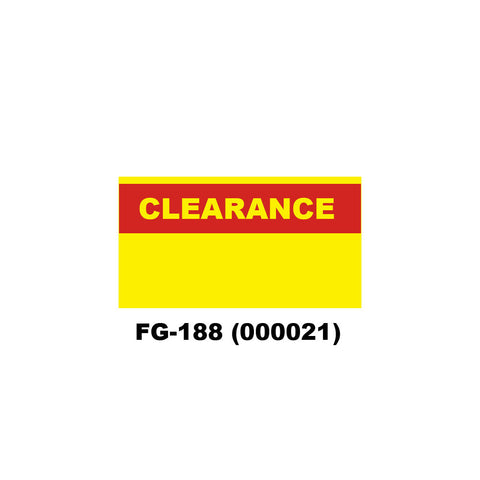 "Monarch 1131 ""CLEARANCE"" Labels (8 rolls) - 000021"
