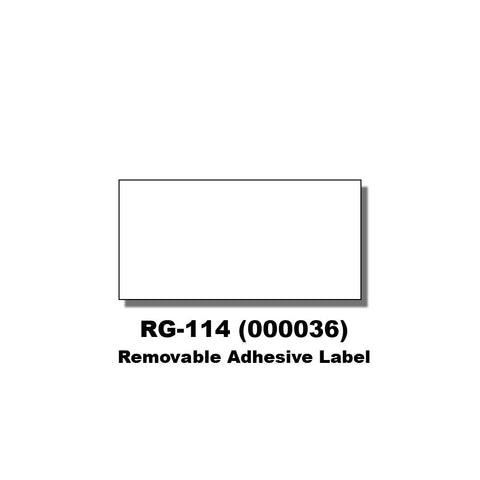 Monarch 1131 White Labels (Removable Adhesive) (8 rolls) - 000036