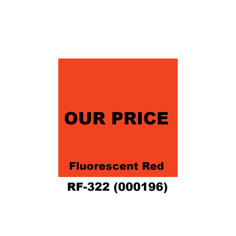 "Monarch 1136 ""REG. PRICE - OUR PRICE"" Labels (8 rolls) - 000196"