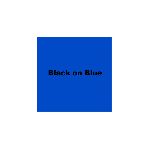 "Epson 1-1/2"" Black on Blue Tape - 236BBPX"