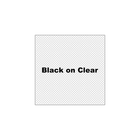 "K-Sun 1 1/2"" Black on Clear Tape 26ft - 636BC"
