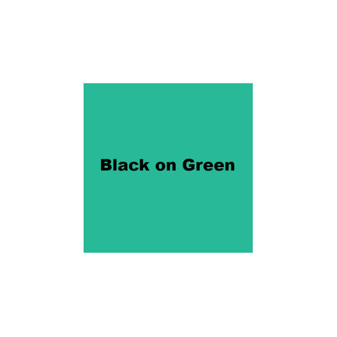 "K-Sun 3/4"" Black on Green Tape 26ft - 618BG"