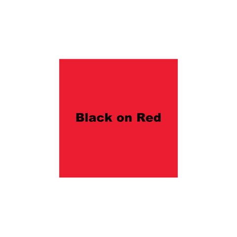 "K-Sun 1"" Black on Red Tape 26ft - 624BR"