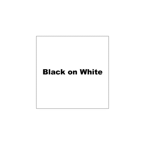 "K-Sun 1"" Black on White Tape 26ft - 624BW"