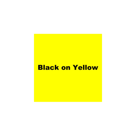 "K-Sun 1 1/2"" Black on Yellow Tape 26ft - 636BY"