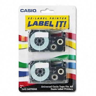 "Casio 3/4"" Black on White Tape (2-pack) - XR18WE2S"
