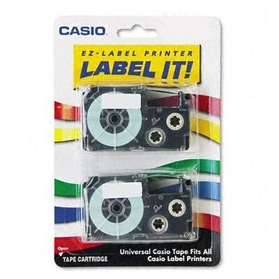 "Casio 3/8"" Black on Blue Tape (2-pack) - XR9BU2S"