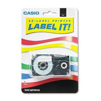 "Casio 3/8"" Black on Clear Tape (1-pack) - XR9XS"