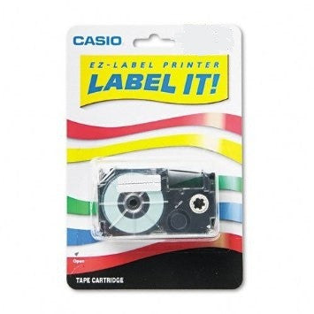 "Casio 1/2"" Black on White Tape (1-pack) - XR12WES"