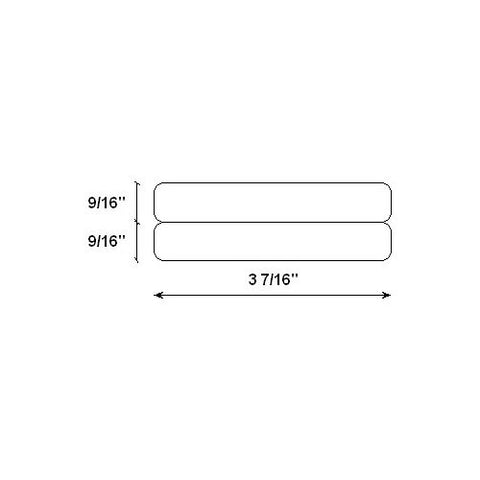 Pack of 8 White 1 roll of 260 9//16 x 3-7//16 DYMO LW 2-Up File Folder Labels for LabelWriter Label Printers 30377