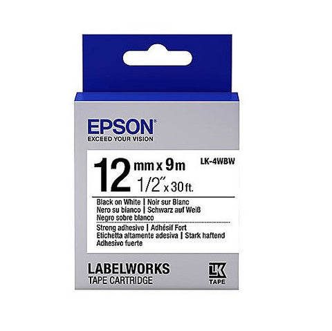 Epson LK-4WBW Strong Adhesive Tape