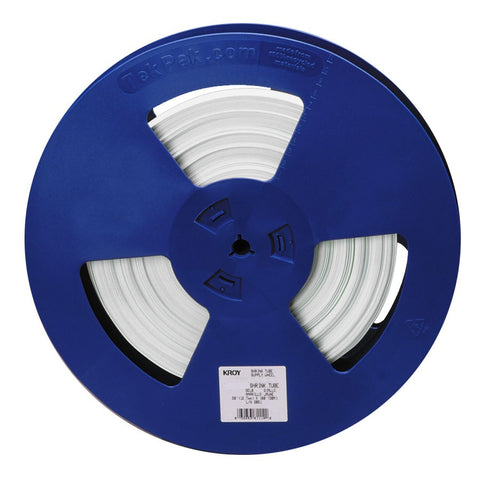 "Kroy 1/8"" White Shrink Tube Reel 100' - 98-WT31-0342"