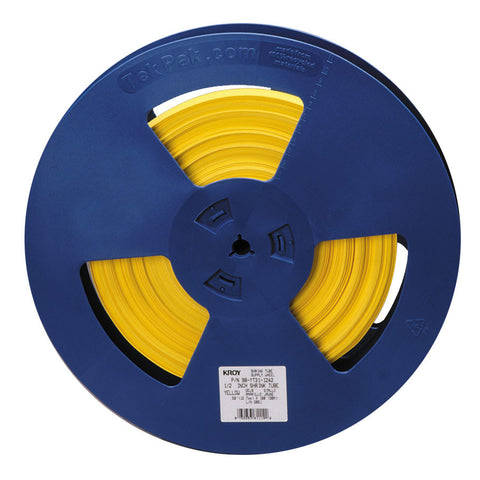 "Kroy 3/8"" Yellow Shrink Tube Reel 100' - 98-YT31-0942"