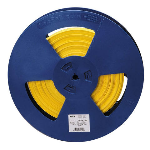 "Kroy 3/16"" Yellow Shrink Tube Reel 100' - 98-YT31-0442"