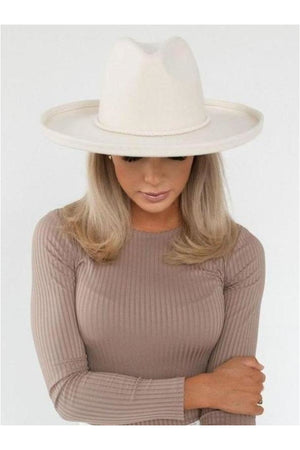 Gigi Pip Cara Loren Pencil Brim Hat-Off White - BluePeppermint Boutique