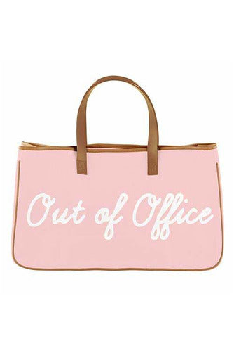 Out Of Office Canvas Tote - BluePeppermint Boutique