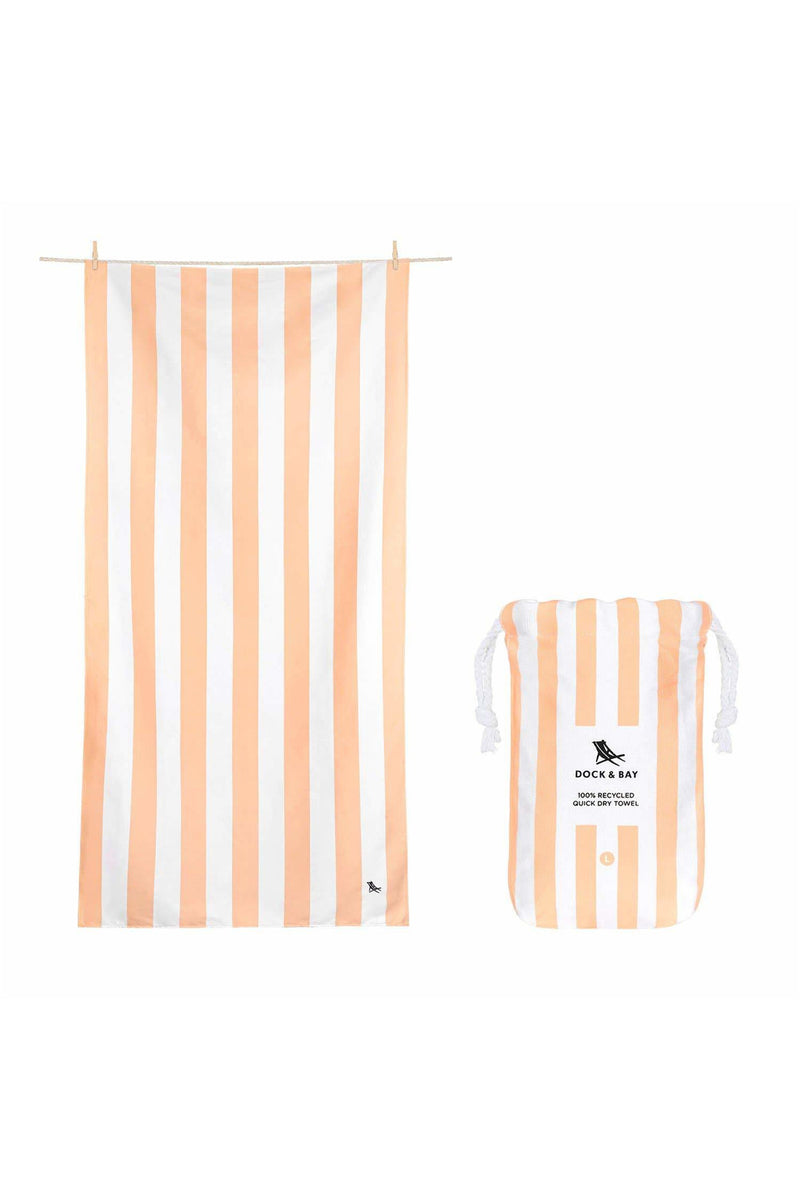 Dock & Bay Quick Dry Towel - Cabana - Positano Peach - Large - BluePeppermint Boutique