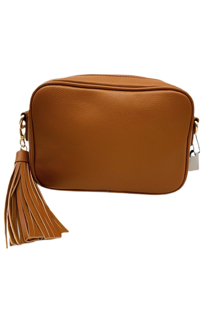 Pebbled Tassel Bag with Zip Top-NO STRAP ATTACHED! - BluePeppermint Boutique
