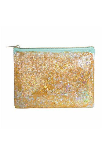 Mint Clear Cosmetic Bag - BluePeppermint Boutique