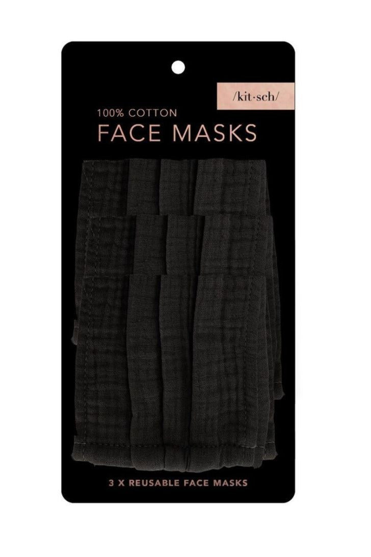 Kitsch Face Mask-All Black - BluePeppermint Boutique