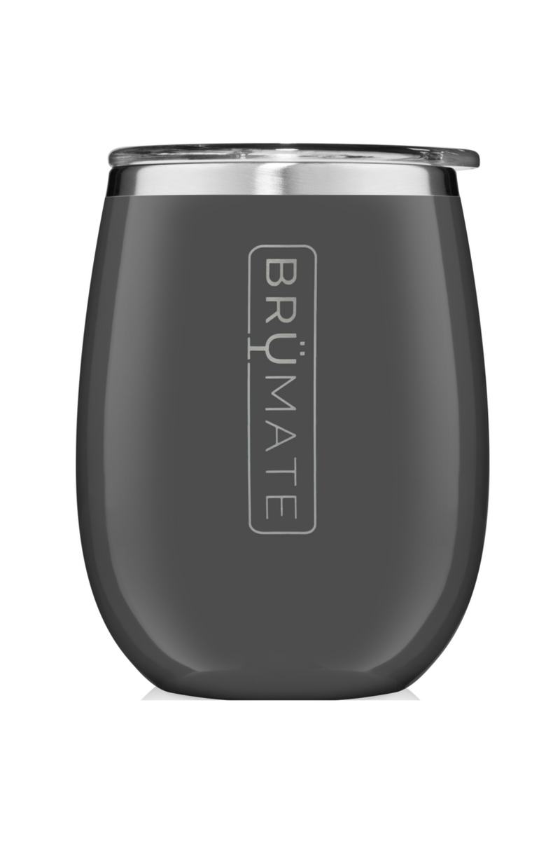 BruMate Uncork'd XL 14oz Wine Tumbler-Charcoal Grey - BluePeppermint Boutique