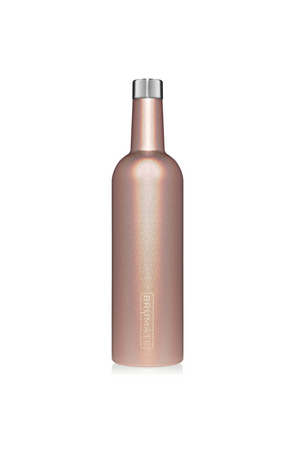 BruMate Winesulator 25oz Wine Canteen-Glitter Rose Gold V2.0 - BluePeppermint Boutique